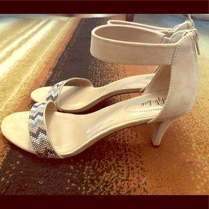 NWOT Beaded strappy heels